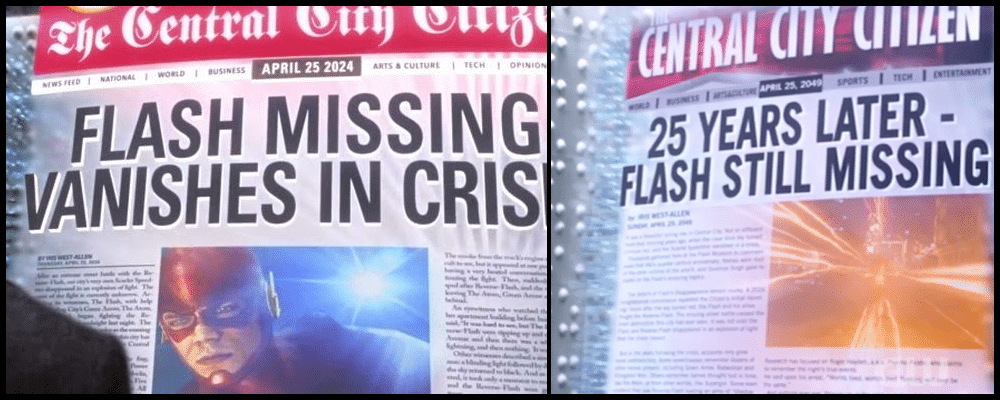 Les unes de journaux de The Flash