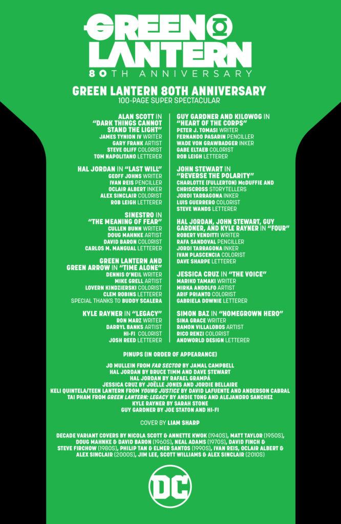 Les équipes créatives et un aperçu de Green Lantern 80th Anniversary dévoilés 10