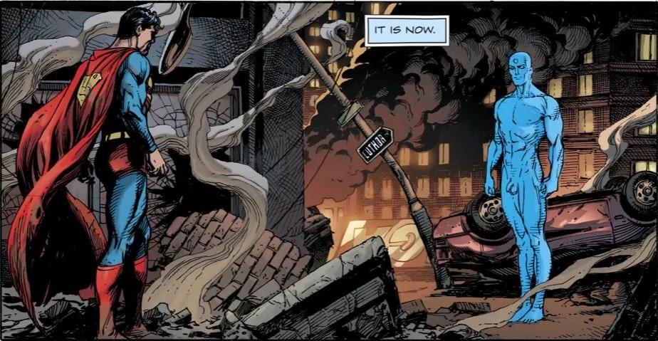 Doomsday Clock - Superman vs Dr Manhattan