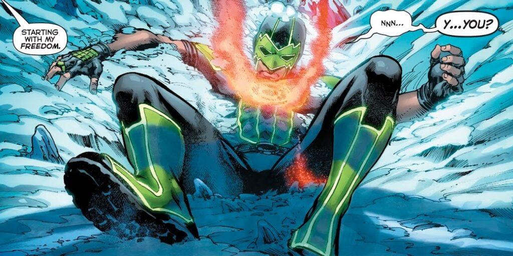 simon face à cyborg superman