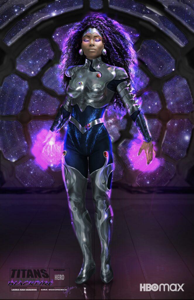 Titans saison 3 : Blackfire se montre en costume 27
