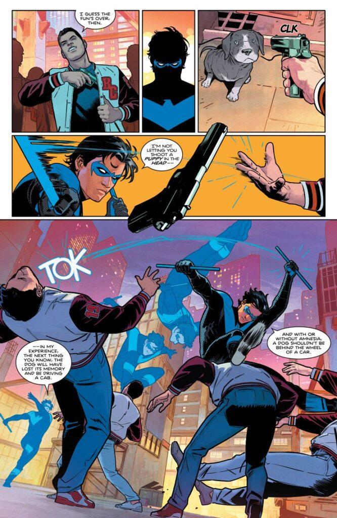 Voici les premières pages du Nightwing de Tom Taylor 36