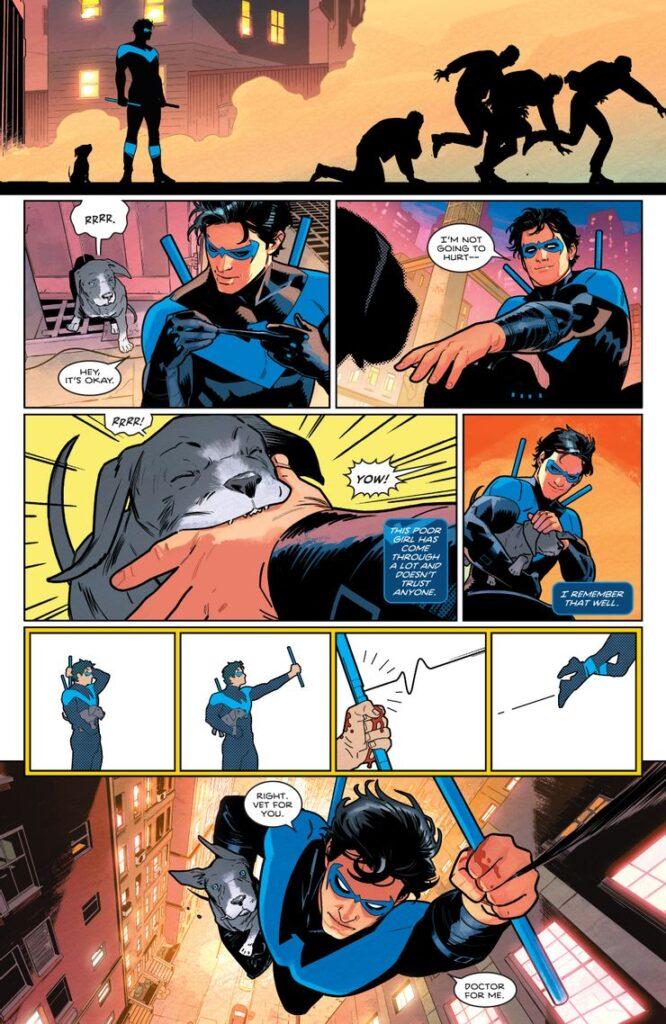 Voici les premières pages du Nightwing de Tom Taylor 37