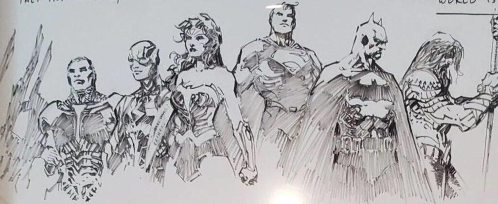 Les plans de Zack Snyder pour les suites de Justice League dévoilés avec des croquis par Jim Lee 33