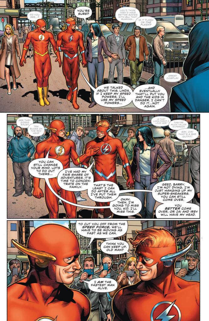 Wally West prend sa retraite en preview de The Flash #768 36