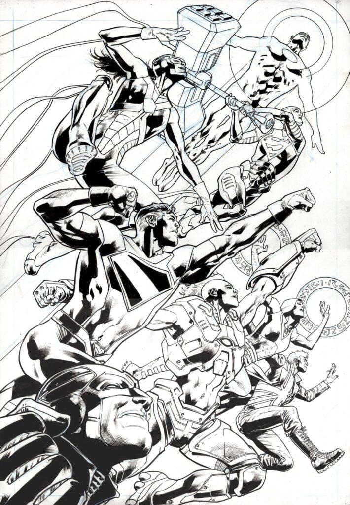 Superman and the authority Bryan Hitch