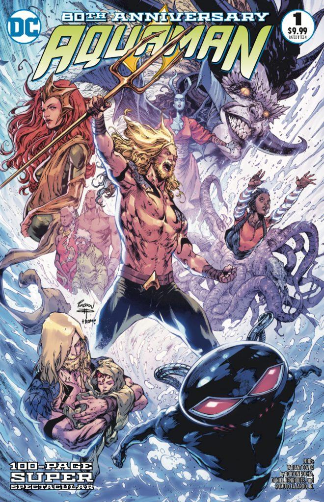 Aquaman : Découvrez les couvertures et le line-up du numéro anniversaire 43