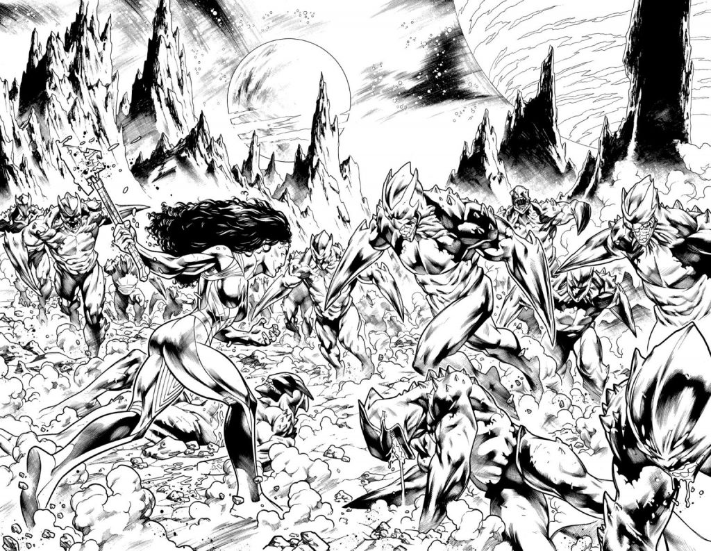 En novembre Wonder Woman va défendre l'humanité dans Wonder Woman : Evolution 32